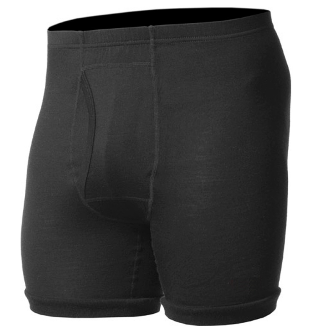 100% צמר מרינו קלה של הגברים גברי מתאגרף שחור תחתוני Underpant לטוס מכנסיים קצרים חם בחורף קריר באביב משלוח חינם