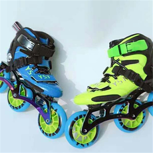 Image 4 - פחמן סיבי Inline מהירות גלגיליות נעליים לילדים ילדים סיב מרוצי מסלול תחרות 3X90mm 3X100mm 110MM 4X90mm 3 4 גלגלים