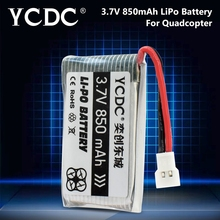 YCDC 3.7V 850mAh Li-Po Battery For Syma X5C X5SC X5SW X5C-1 X5SC-1 Cx-30 Cx-31 Drone Quadcopter Batteries for with camera