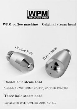 Welhome Coffee Maker Steam Head Nozzles WPM Universal Steam head 2 hole 3hole 4 hole modified original steam head WPM semi