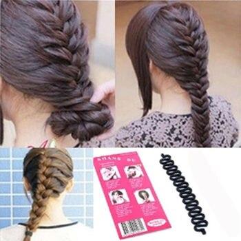2 uds., pinza para cabello de estilo serpenteado con rodillo de moda para mujer, Kit de aseo de belleza, utensilio para hacer moños, herramienta trenzada, herramienta de tejidos para el cabello