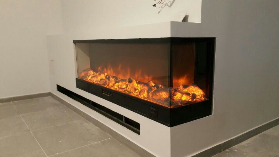 Decorative Two Sided Electric Fireplace In Electric