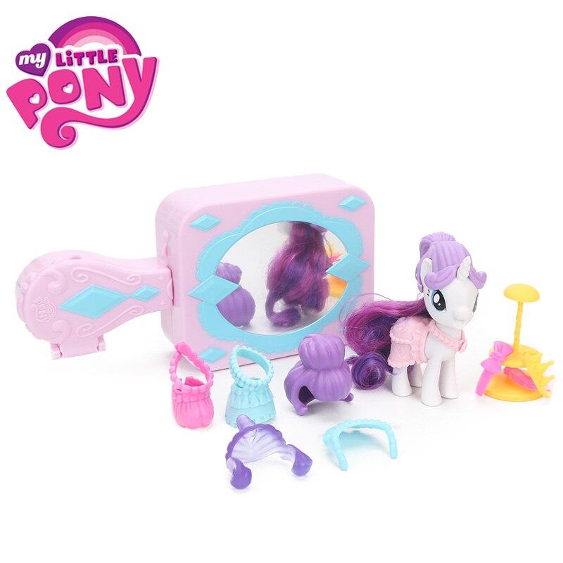 Mon petit poney jouets le film fluttertimide sac à main Pet soin rareté miroir Boutique PVC Action Figure ensemble Collection modèle poupées jouet