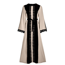 Muslim Abaya Women Lace chiffon Robe Long sleeve Ladies Arabic Abayas Robes Kaftan Islamic