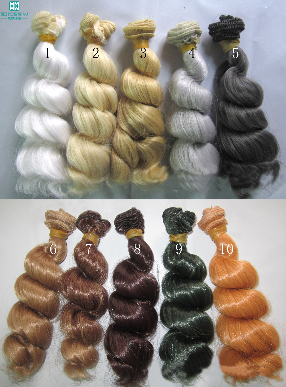 2016 New 15cm*100cm BJD/SD Doll Wigs DIY Fapai New Large waves curls - Dolls and Stuffed Toys