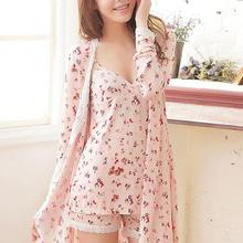 2019 Pyjamas gilet women spaghetti strap robe shorts sexy sleepwear lounge tempt