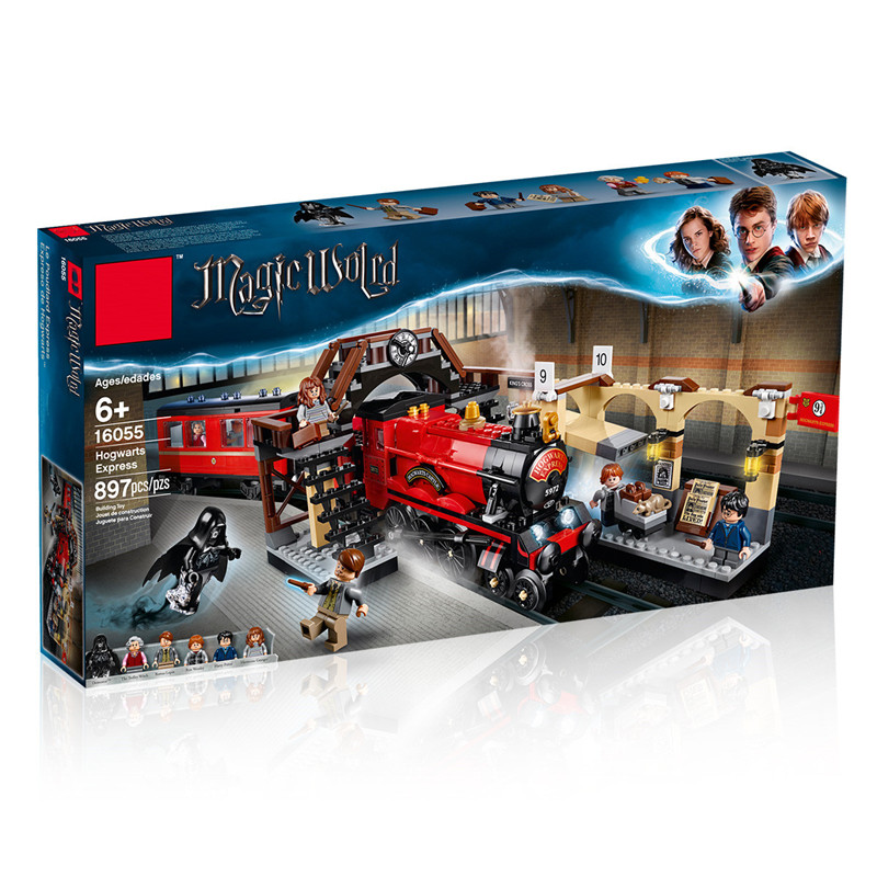 16055 Harri Potter Toys Compatible with Legoing 75955 Hogwarts Express Set Building Blocks Bricks Kids Toys Christmas Gift