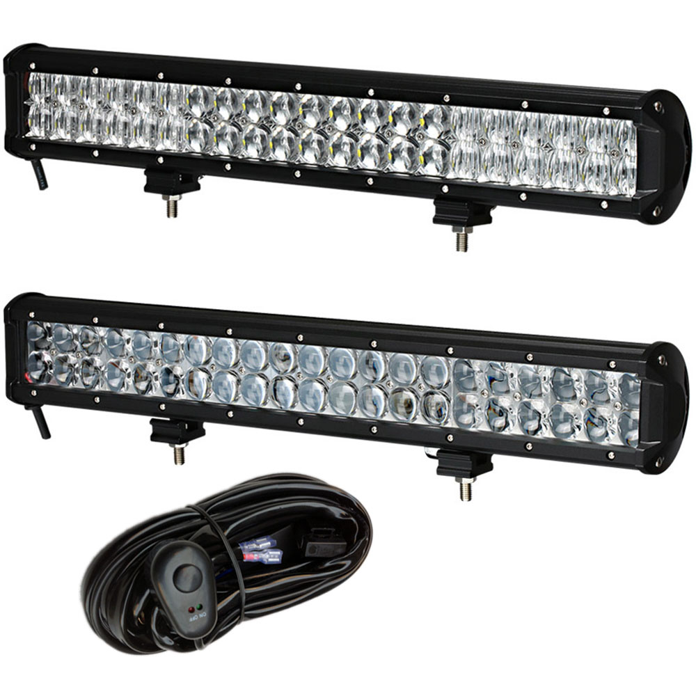 Tractor Front Lights : Weketory d quot inch w led work light bar for