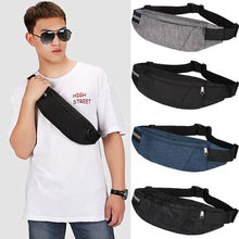 Male Men Waist Bag Pack Casual Functional Money Phone Belt T201 Gray Black Women for Canvas Hip Fanny