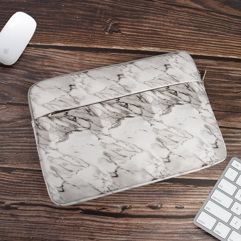 Marble <font><b>Laptop</b></font> Sleeve 14 15.4 15.6 <font><b>inch</b></font> Notebook <font><b>Bag</b></font> for MacBook Air Pro 13 15 Case Cover for Xiaomi HP Lenovo Dell Coque Pouce image