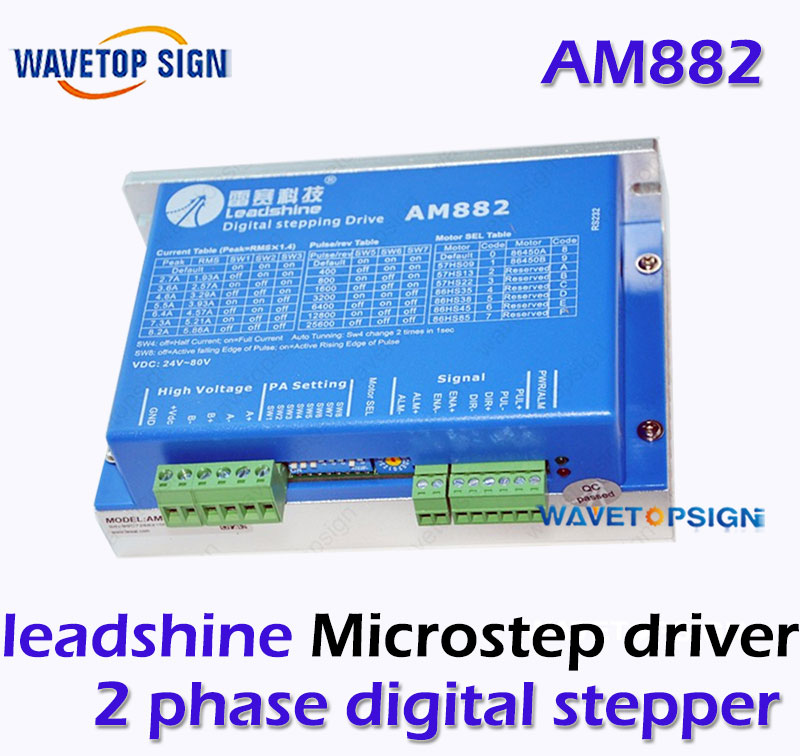 In Stock!  GENUINE Leadshine 2 Phase Digital Stepper Drive AM882 With SENSORLESS Stall Detection Max 80 VDC / 8.2A leadshine stepper motor driver 3dm 683 3 phase digital stepper drive max 60vac 8 3a