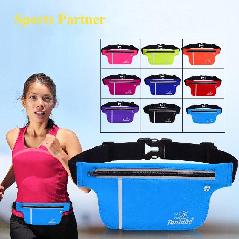 Waterproof nylon unisex sports pockets running bags mobile phone pockets running fitness equipment font b belt
