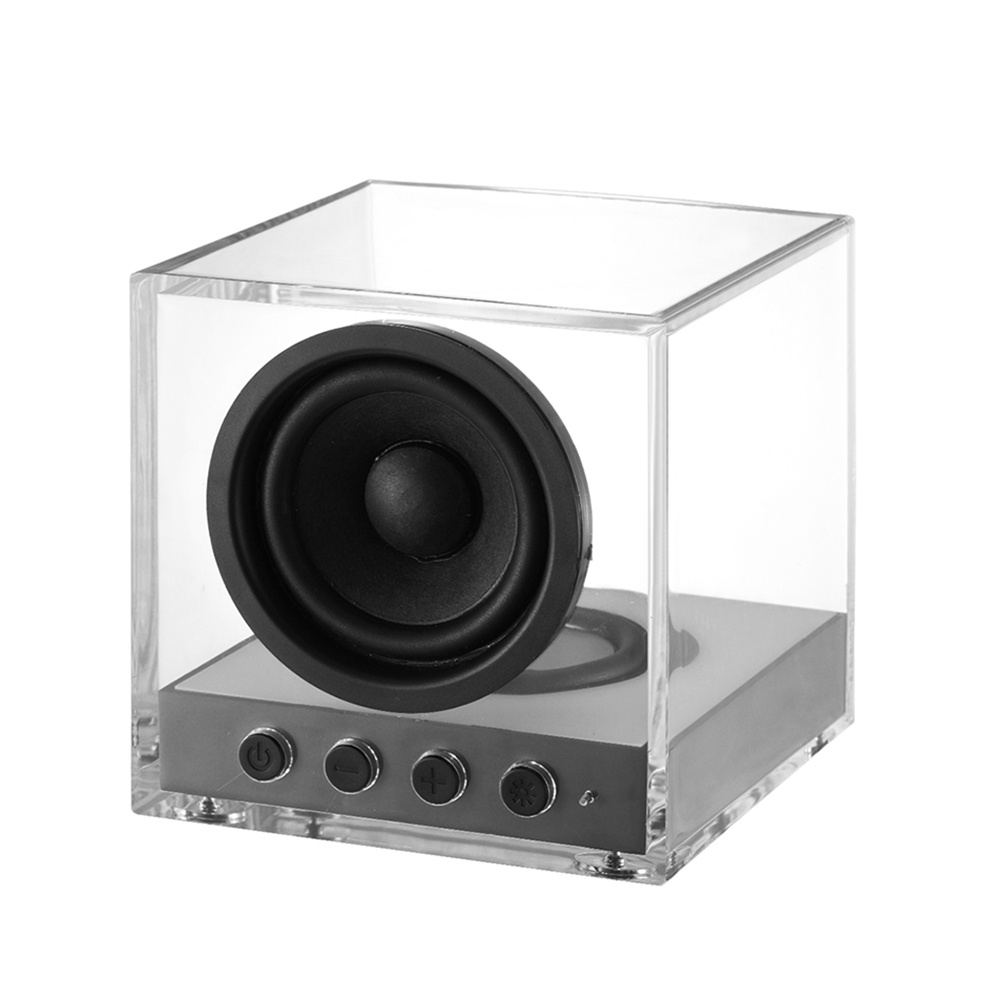 Bts-630 Transparent Wireless Bluetooth Speaker 5w Subwoofer With Rgb Led Lights Support Line-in Tf Music Play Tws Connection Mic To Ensure A Like-New Appearance Indefinably Consumer Electronics