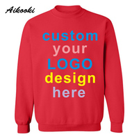 Custom Sweatshirt Logo Text Photo Print Men Women Kids Personalized Team Family Customize Hoodies Promotion AD