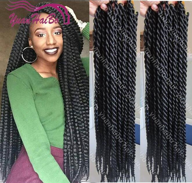 24in Long Length Black Havana Mambo Twist Crochet Braids Synthetic Braiding  Hair Senegalese Twist Hair 120g/pack On Aliexpress.com | Alibaba Group