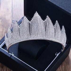 Роскошный тренд, полная кристалльная тиара из горного хрусталя, большая корона для свадьбы, головные уборы, короны для свадьбы, аксессуары д...