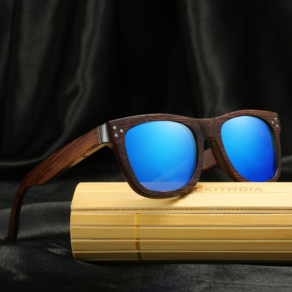 Kithdia Brand Polarized Dark Frame Wood Sunglasses Bamboo Sunglasses and Support DropShipping Provide Pictures KD028 in Men 39 s Sunglasses from Apparel Accessories