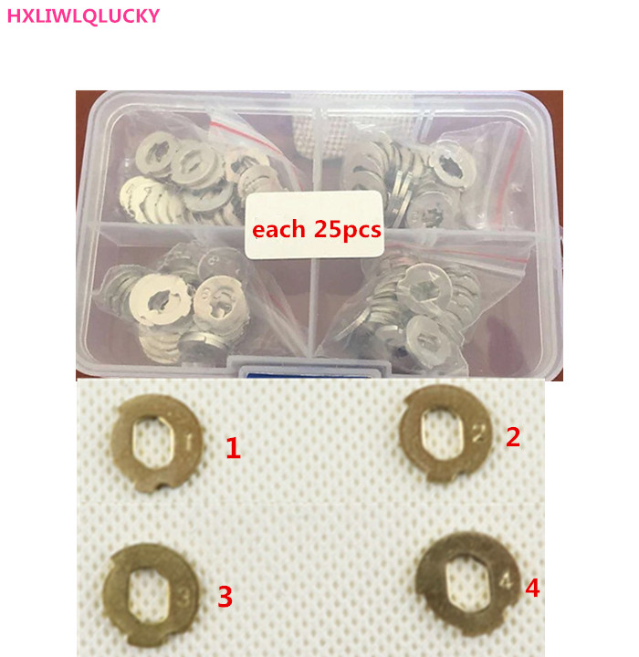 HXLIWLQLUCKY Lock wafer 100PCS it contains 1,2,3,4 each part has 25pcs for mondeo car lock FREE SHIPPING