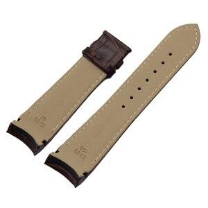 Image 2 - Bracelet de montre à bout incurvé, en cuir véritable, 22mm 23mm 24mm, pour Tissot Couturier T035 Bracelet de montre, boucle en acier, marron