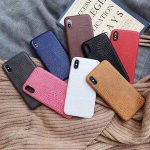 Роскошный чехол с крокодиловым змеиным принтом для iphone7, оригинальный кожаный чехол в полоску для iphone X XS 6 6s 7 8 plus