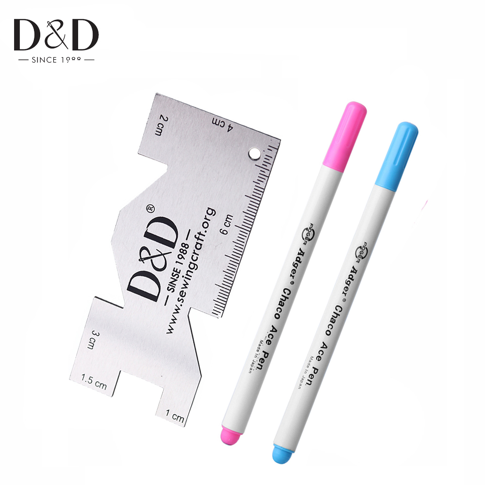 Water Erasable Pen Fabric Marker Tailor 39 s Chalk amp Metal Sewing Measuring Gauge Quilting Rulers Tailor Craft Sewing Accessories in Sewing Tools amp Accessory from Home amp Garden
