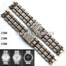 22 mm 23 mm 24 mm T035407 T035410 nuevo partes de relojes para hombre pulsera de acero inoxidable sólido correas de reloj correa para T035