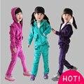 Костюм для девочек одежда наборы спортивный костюм для девочек одежда наборы марка детские весна осень случайные дети красный новый бесплатная доставка доставка