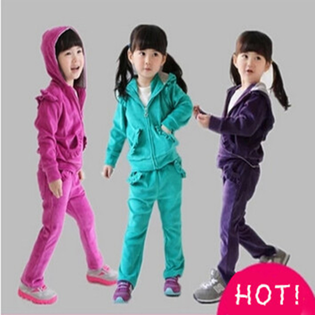 tracksuit for girls clothing sets sports suit for girls clothing sets brand baby spring autumn casual kids red new free shipping