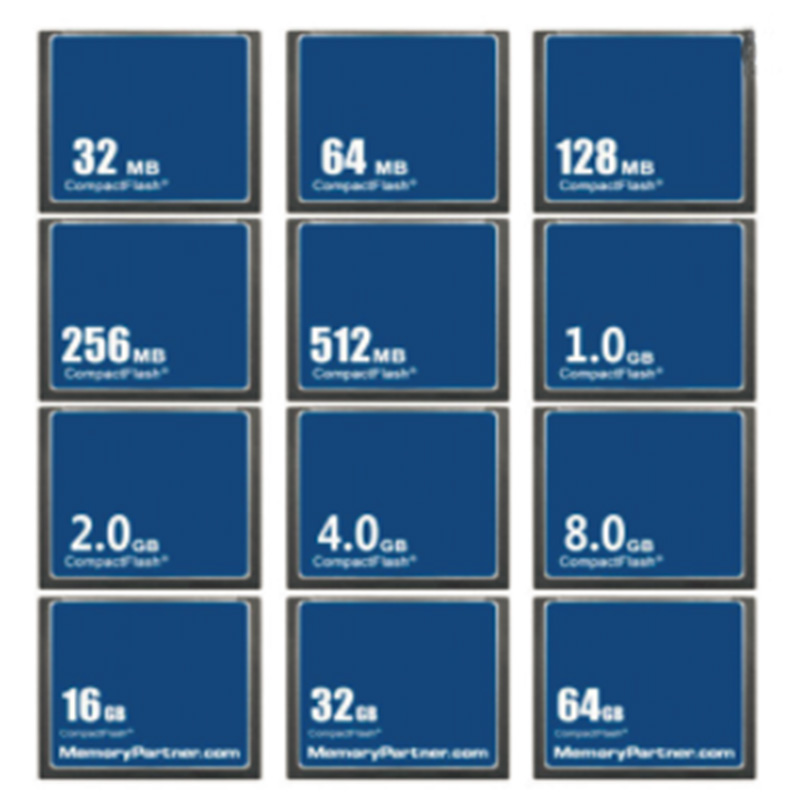 Wholesale 5PCS/Lot 32MB 64MB 128MB 256MB 512MB 1GB 2GB 4GB 8GB16GB 32GB 64GB CF Card Memory Card Compact Flash for Computer Used 5pcs lot atmega64 atmega64a atmega64a au tqfp 64 at brand flash 100