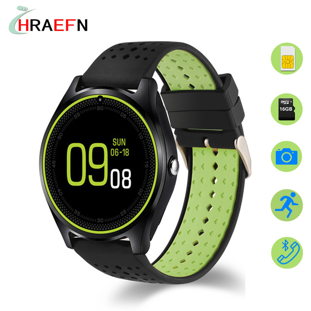 Montre Smart Watch V9 reloj inteligente Carte SIM Smartwatch fitness tracker sport Montres pour IOS iphone Andorid huawei xiaomi samsung