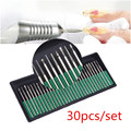 30pcs / Set Nail Tool Drill Bits Set Kit Electric Nail Polish Stainless Steel Head Polished Nail Accessories Free Shipping