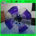 Roxo e transparente bumper futebol para crianças de entretenimento ao ar livre ou indoor