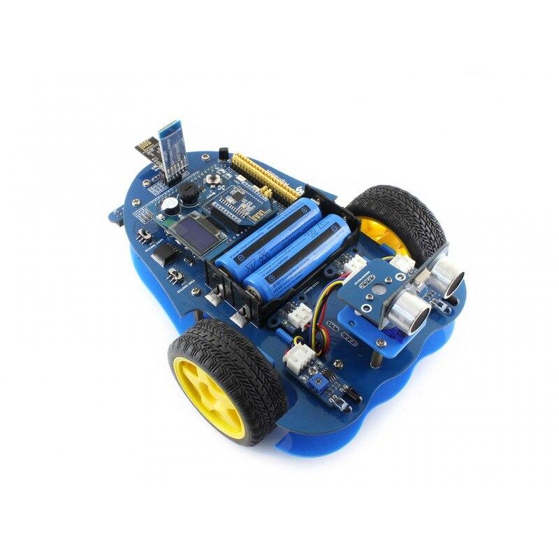 Kit de construction de robot Bluetooth pour Arduino comprend UNO PLUS AlphaBot capteur à ultrasons Bluetooth polyvalent accessoire bouclier etc