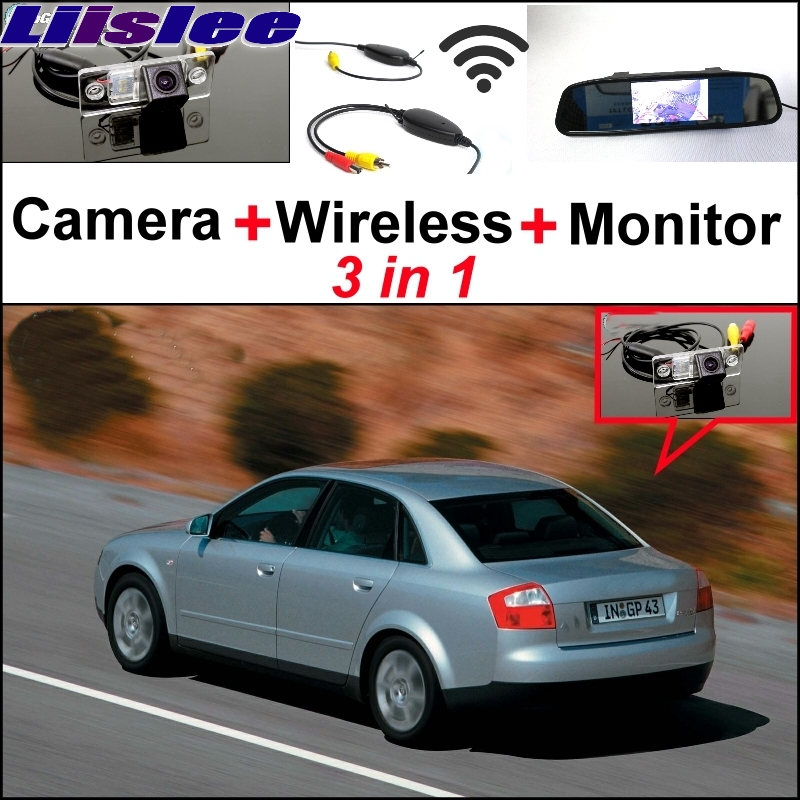 Liislee For Audi A4 B5 8D 1994~2001 3 in1 Special Rear View Camera + Wireless Receiver + Mirror Monitor Easy Back Parking System liislee 3in1 special rear view camera wireless receiver mirror monitor easy parking system for lexus ls430 celsior 2001 2017
