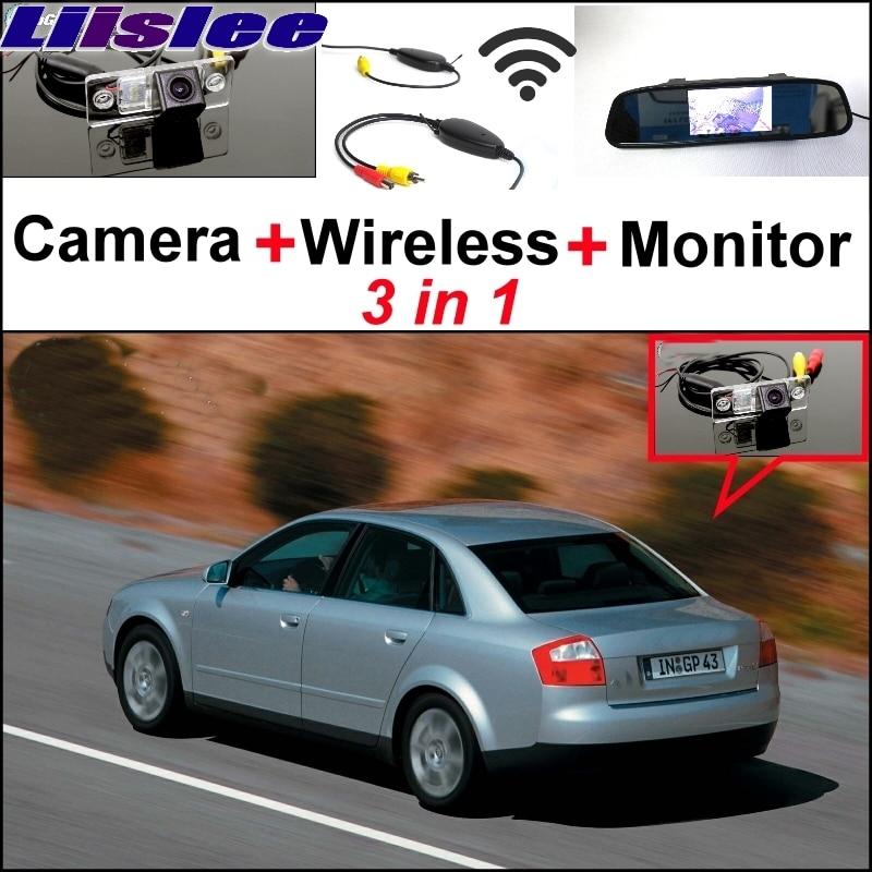 Liislee для Ауди А4 8Д Б5 1994~2001 3 в 1 специальные камеры заднего вида + беспроводной приемник + зеркало монитор простая задняя система парковки