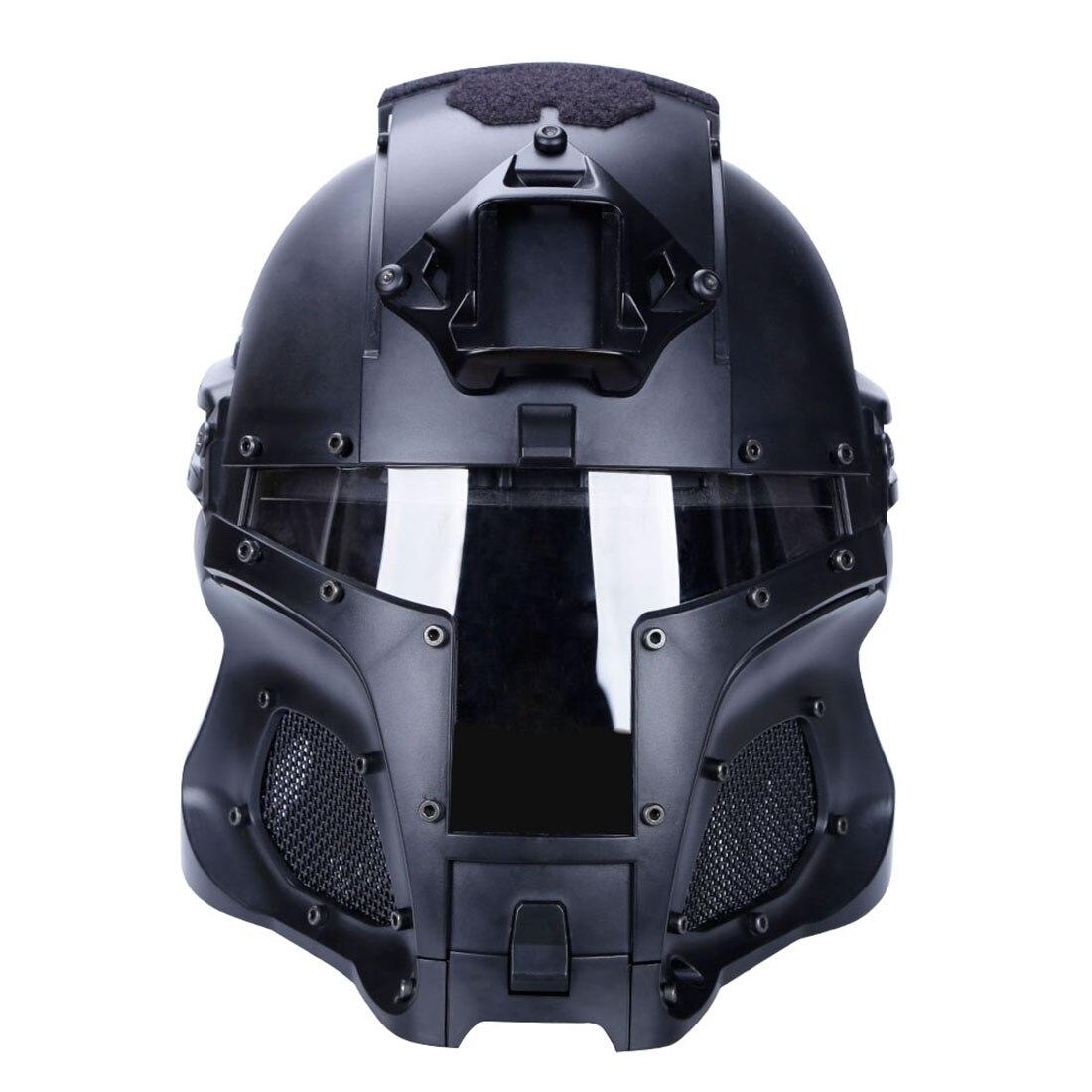 NFSTRIKE Militaire Tactique Accessoires WST Médiévale Fer Chevalier Tactiques Casque Pour Activité de Plein Air Jeu-Noir
