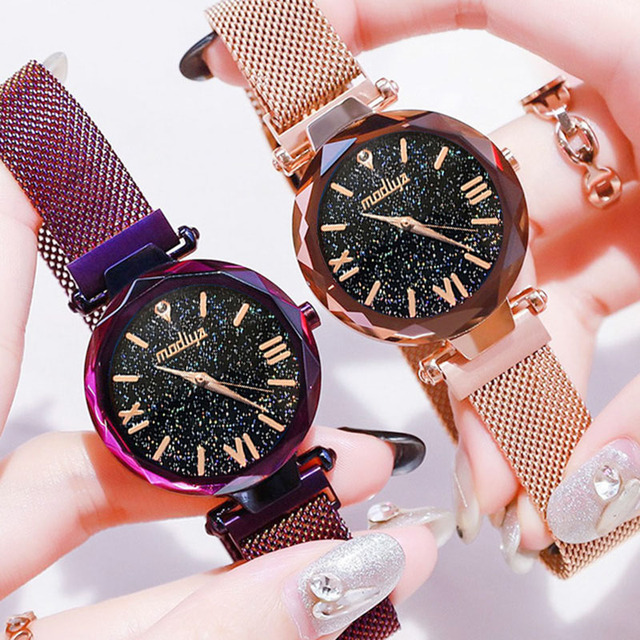 Fashion 2019 Magnetic Starry Sky Watches Women For Luxury Brand Female Clock Ladies Wrist Watch Relogio Feminino zegarek damski 5