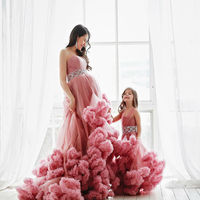 Mother Daughter Dresses for Wedding Party Evening Formal Wear Family Wedding Dress Clothing Princess Mom and Daughter Outfits