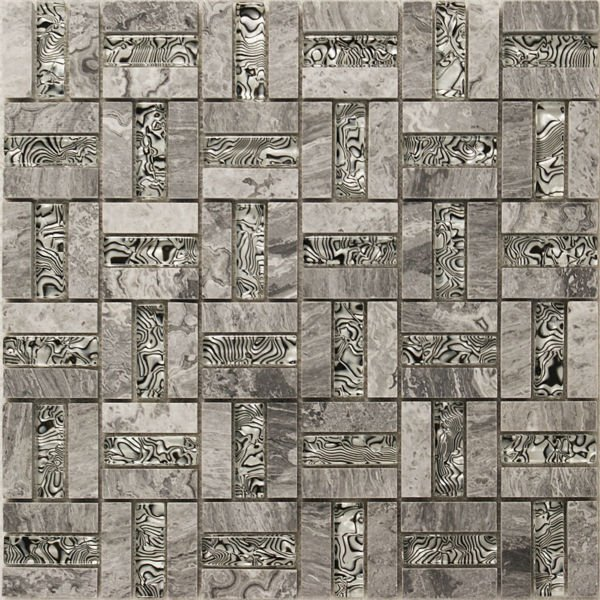 Marble tiles backsplash deco mesh bathroom wall sticker shower design art pat - Deco design discount ...