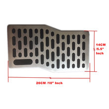1x Universal Non-slip Metal Auto Car Foot Rest Pedal Pad Floor Carpet Mats Patch Heel Plate Footpad Dressing Accessory kit(China)
