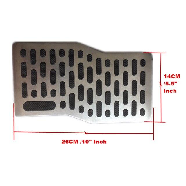 1x Universal Non-slip Metal Auto Car Foot Rest Pedal Pad Floor Carpet Mats Patch Heel Plate Footpad Dressing Accessory kit