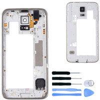 White Original Middle Frame For Samsung Galaxy S5 G900F G900H I9600 Plate Bezel Housing Middle Tools