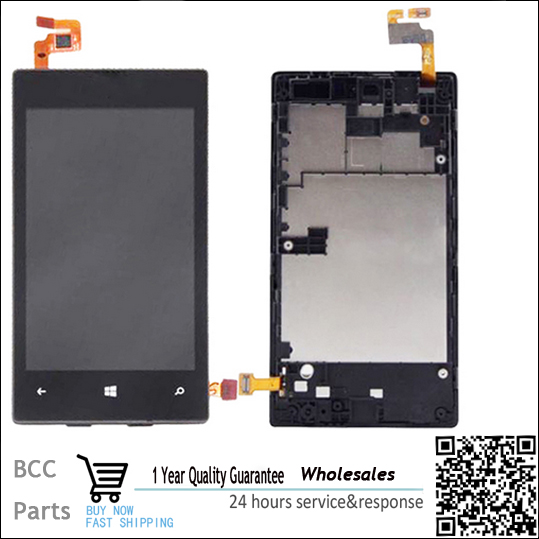 Original Lumia 520 Black LCD Display Touch Screen Digitizer Assembly bezel frame for Nokia Lumia 520 free shipping+track code black lcd display touch screen digitizer assembly with bezel frame for nokia lumia 1520 replacements part free shipping