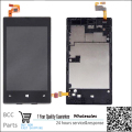 Original Lumia 520 Black LCD Display Touch Screen Digitizer Assembly bezel frame for Nokia Lumia 520 free shipping+track code