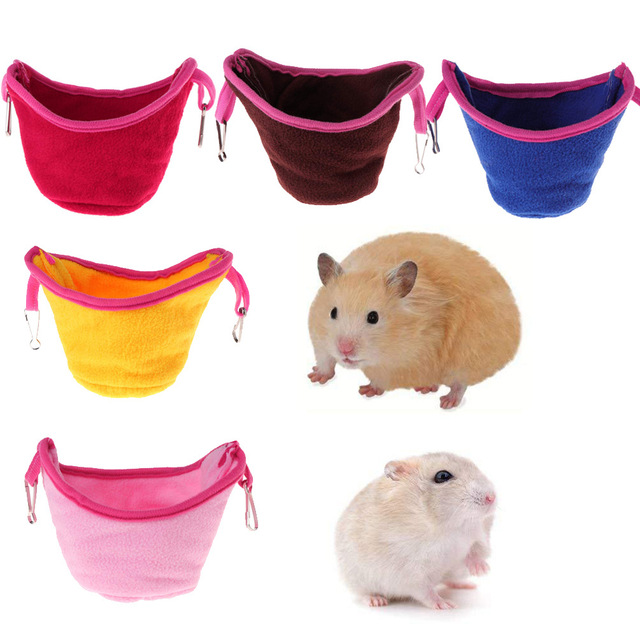 Pet Products Color Fleece Cotton Winter Thicker Warm Hamster Parrot Bird Hanging Hanger hammock Cages