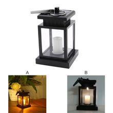 все цены на Solar Powered LED Candle Light Table Lantern Hanging Lawn Lamp For Garden Outdoor онлайн