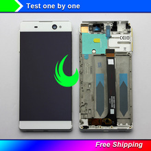 цена на Original For Sony Xperia XA Ultra C6 F3211 F3212 F3213 F3215 LCD Display Digitizer Touch Screen Assembly Frame For XA ULTRA LCD