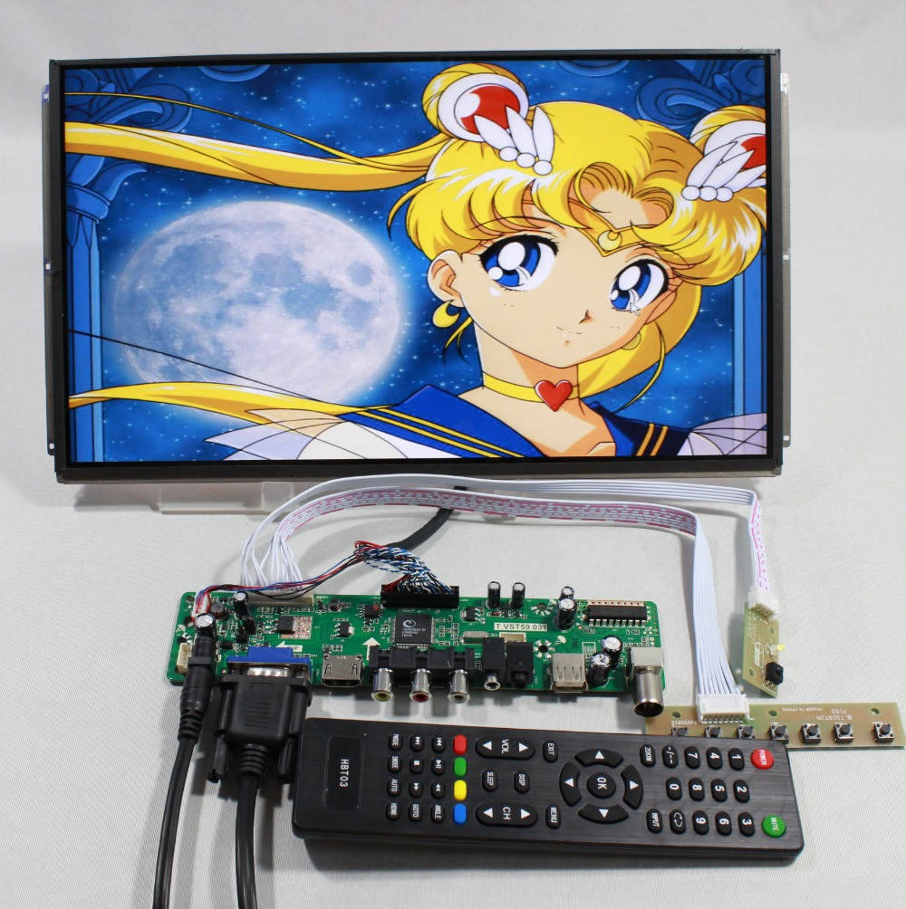 TV PC HDMI CVBS RF USB AUDIO driver Board 13.3inch