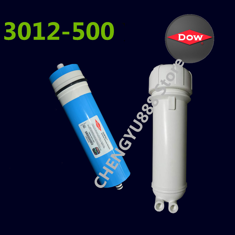 500 gpd reverse osmosis membrane for Dow 3012-500G water filter + 1/4 water hose connection water 500 gpd reverse osmosis membrane for Dow 3012-500G water filter + 1/4 water hose connection water