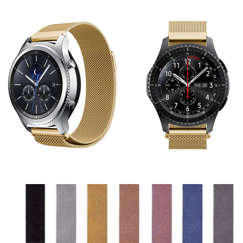 22mm 20 18 Band Für Samsung Getriebe S3 S2 S4 Huawei 2 Klassische Uhr 2 1 Xiaomi Huami Amazfit 1 2 Tempo Lite Magnetische Strap Armband